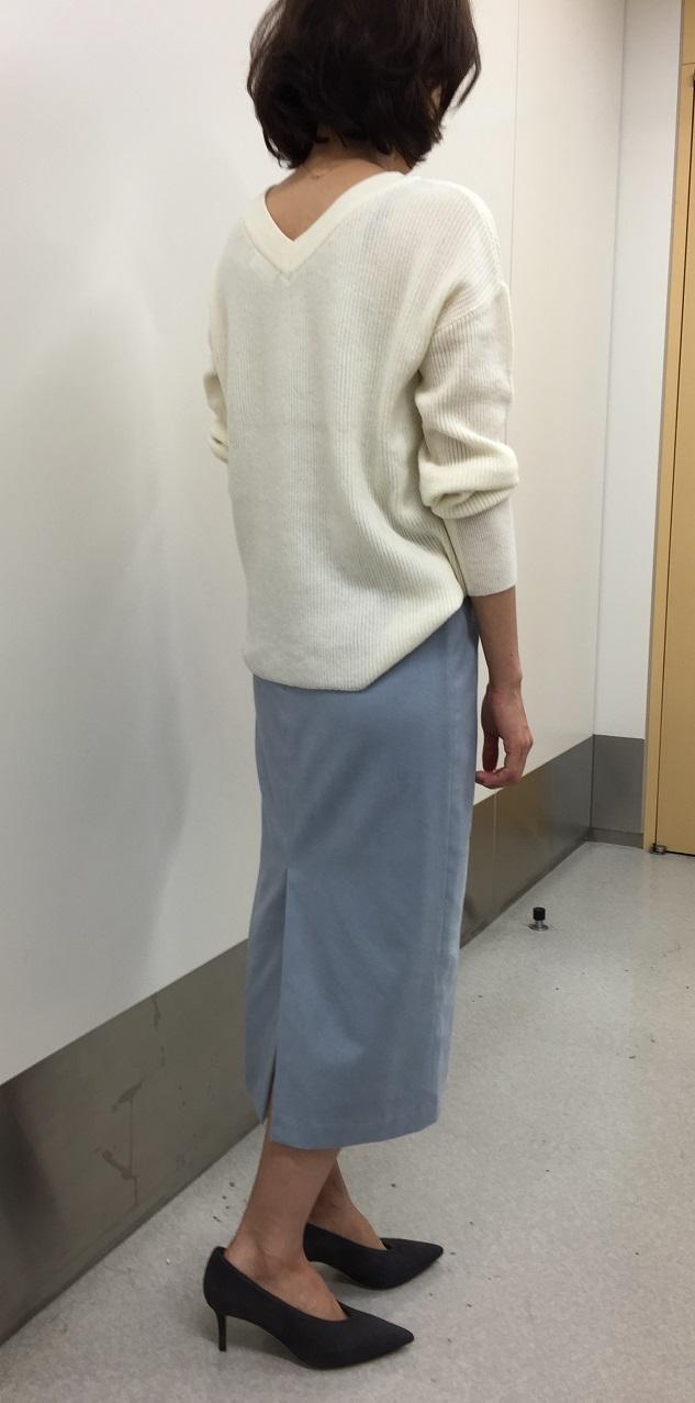 先出し!10月号のM7daysのワッフルトップス&スウェードスカート【SHOP Marisol】_1_4