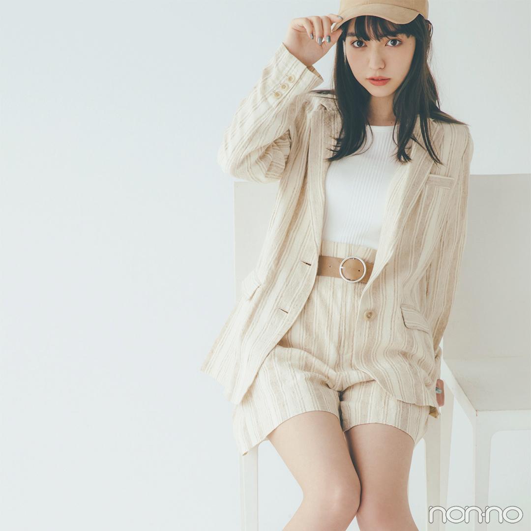 新木優子はパープルのカーデをウエストイン! スタイルアップもお手のもの【毎日コーデ】_1_2-2