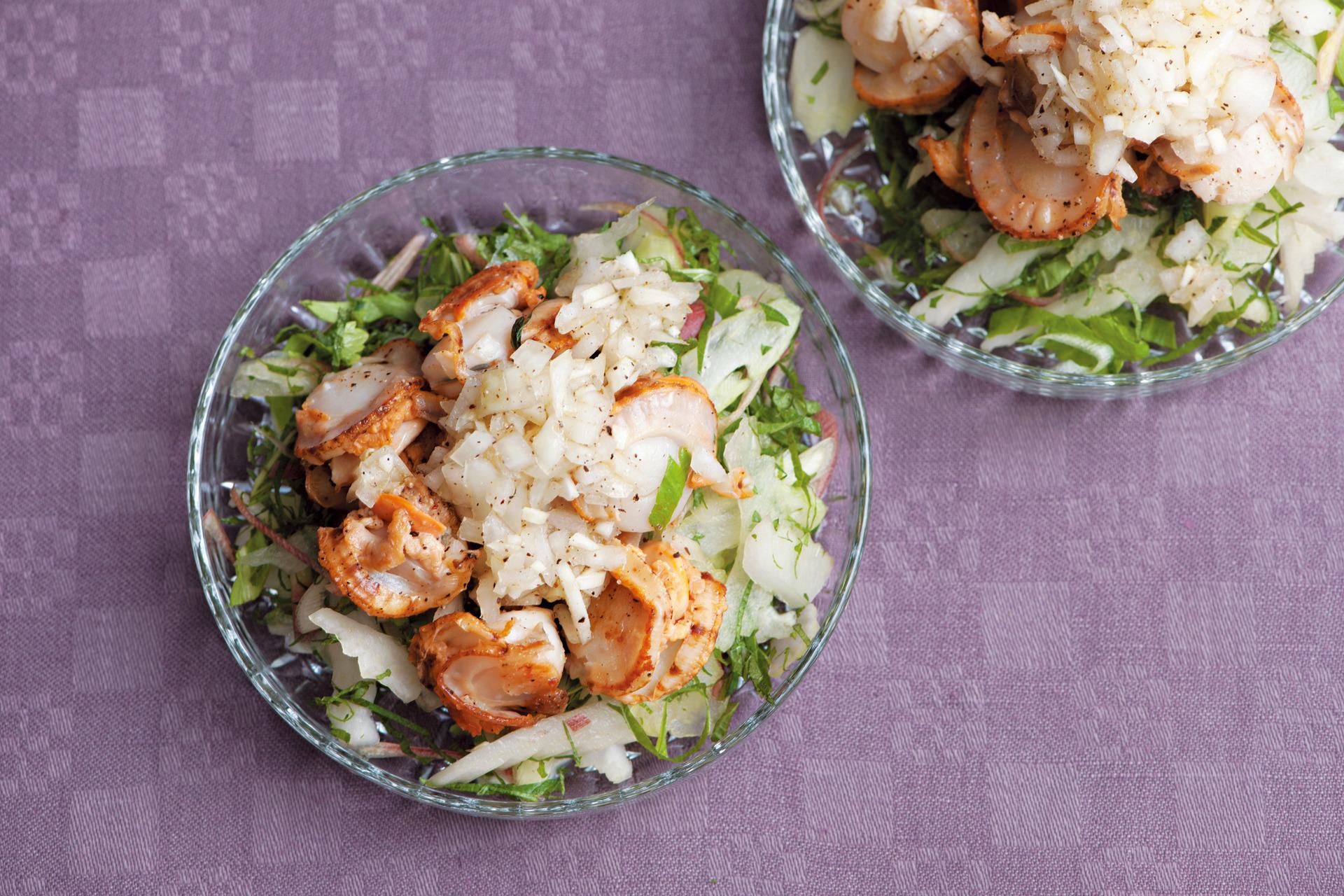 食欲をそそる香りで栄養バランスも◎。ホタテのグリルと香味野菜サラダ_1_1