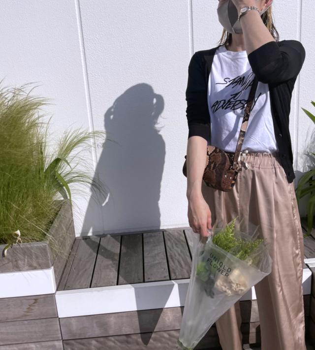 週末のTシャツコーデとUNIQLO FLOWER_1_4