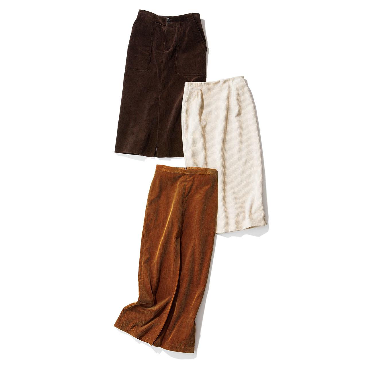 コーデュロイが熱い!コーデュロイのタイトスカートで一気に旬度と女らしさをアップ_1_1