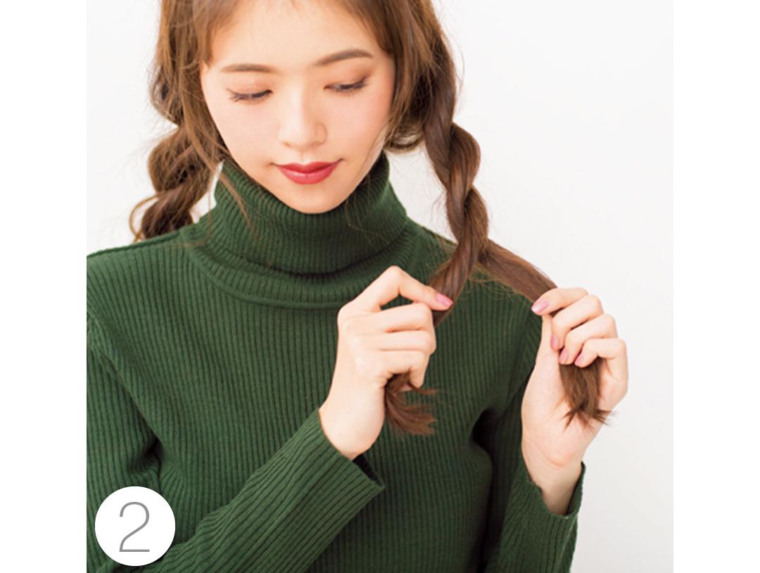 クリスマスのイルミネーションデート♡ ロングはベレー&ヘアアレンジで!_1_2-3