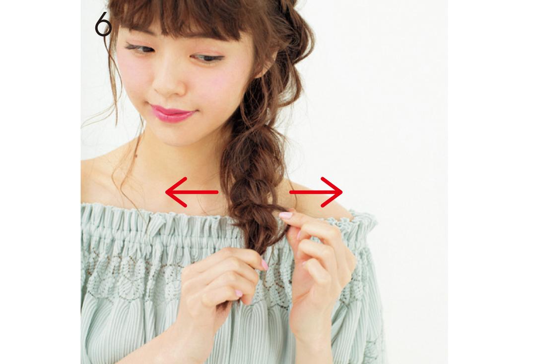 オフショルに似合う! 裏編み込みでおしゃれっぽヘアアレ_1_3-6