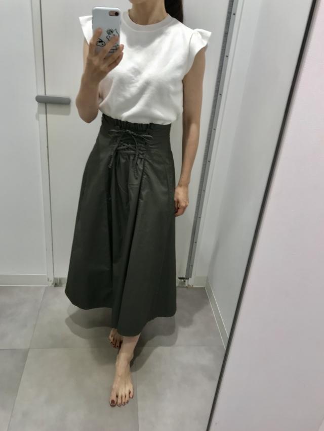 1,990円で見つけた新作スカートを2wayで着回し_1_3