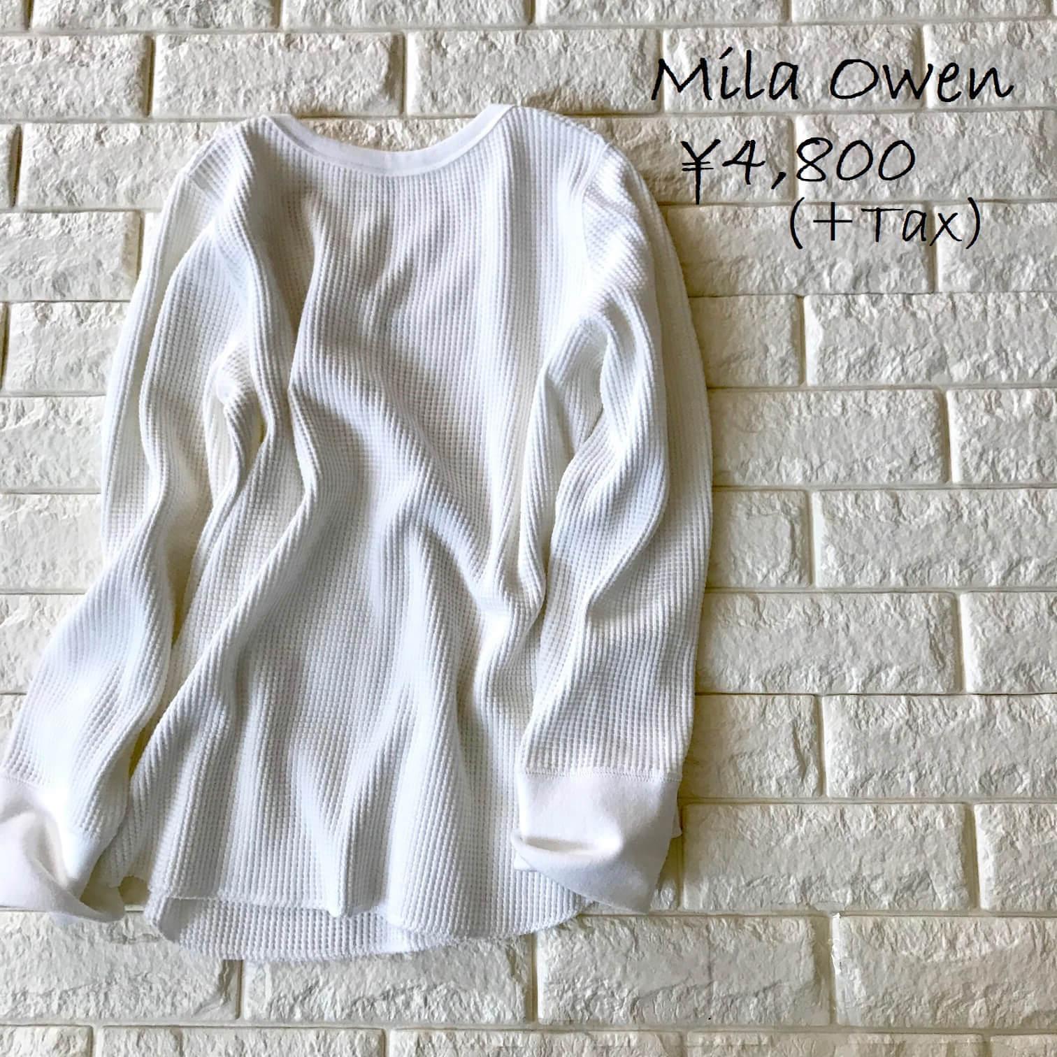 ミラオーウェンのホワイトカットソー画像