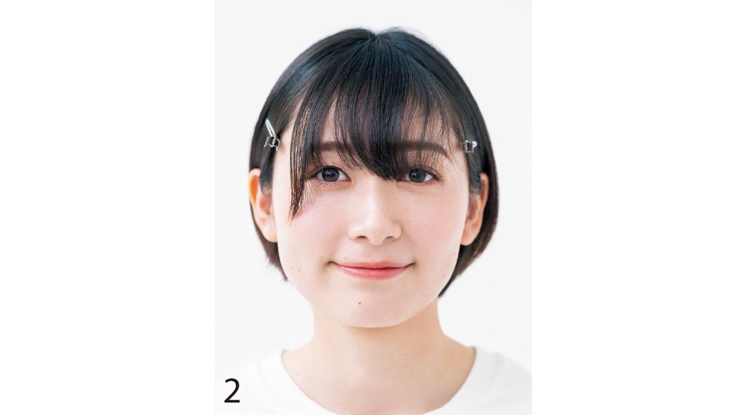 小顔を叶える基本の前髪セルフカット2