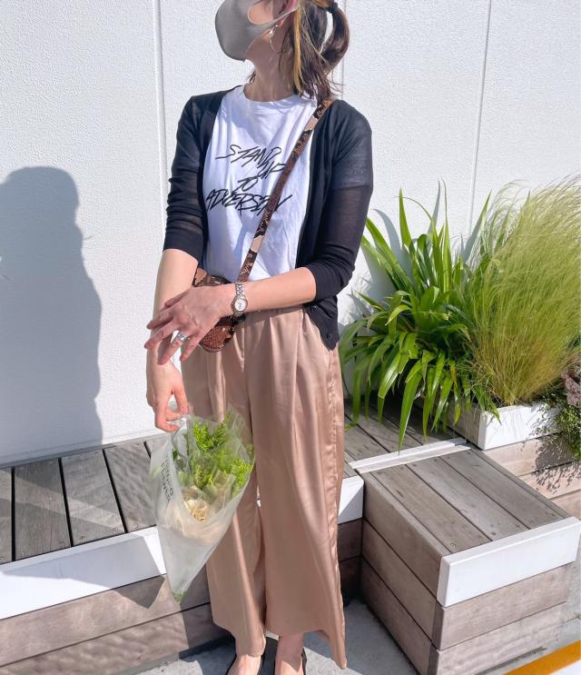 週末のTシャツコーデとUNIQLO FLOWER_1_2