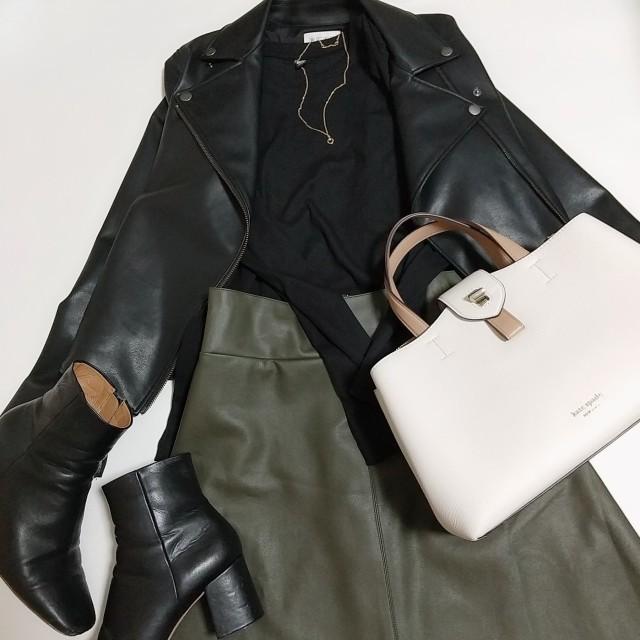 【エコレザー】のスカート&パンツで、冬コーデの鮮度がアップ! 40代ファッションまとめ_1_44