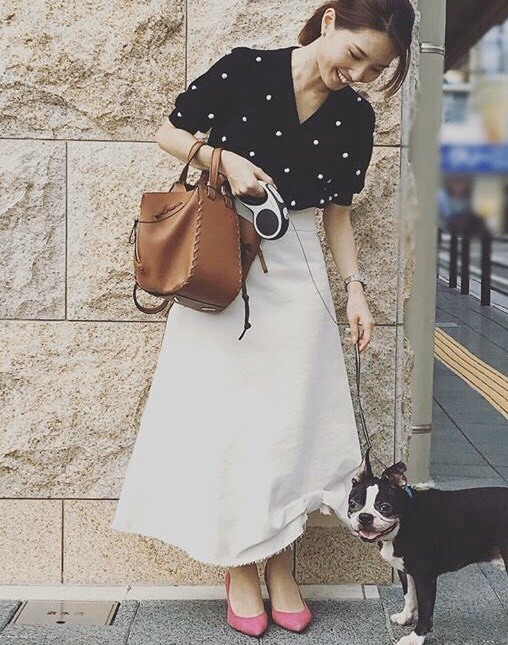 私の「フェミニンスイッチ」白デニムのロングスカート_1_3-1