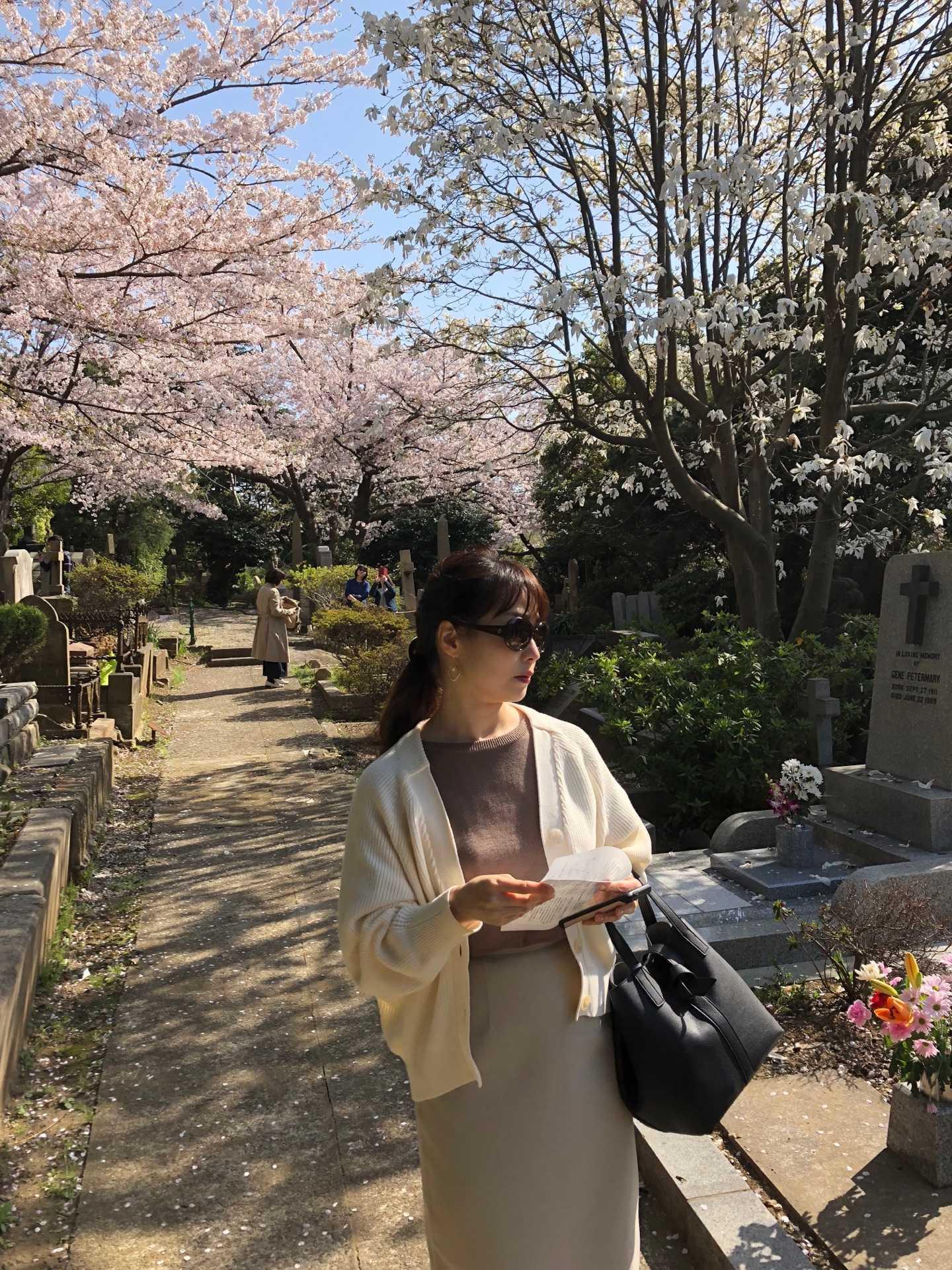 お花見アラフォーコーデ鉄板⁉︎ブラウン〜ベージュ_1_1