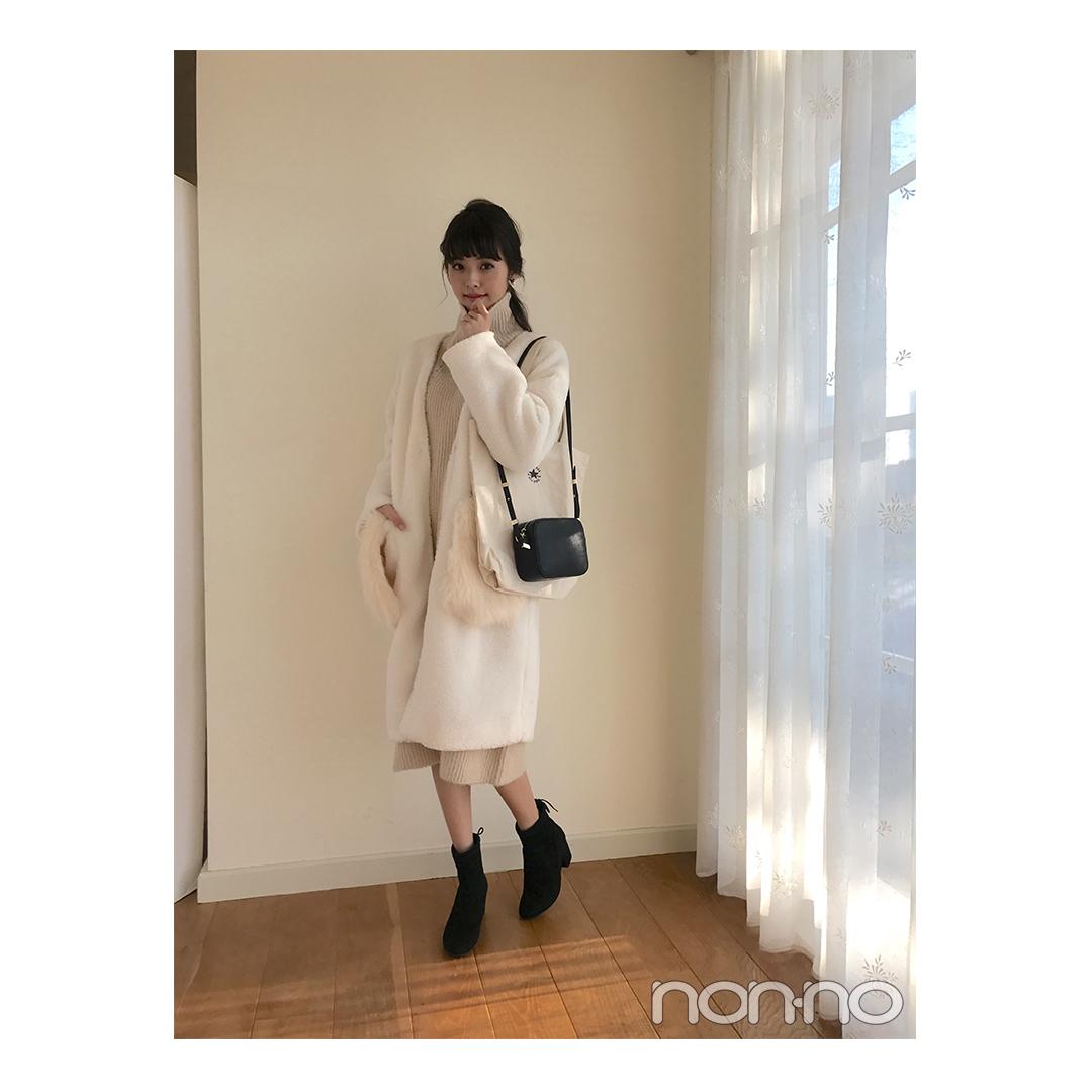 鈴木優華の冬の白が可愛い♡ワントーンコーデ【毎日コーデ】_1_1