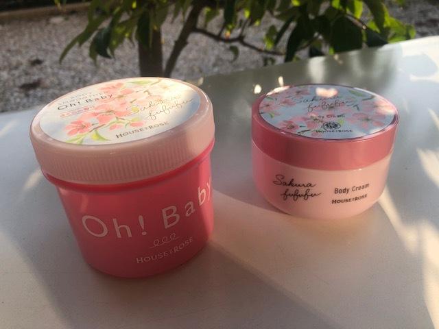 【Oh!Baby】桜の香りのボディスクラブとクリーム_1_1