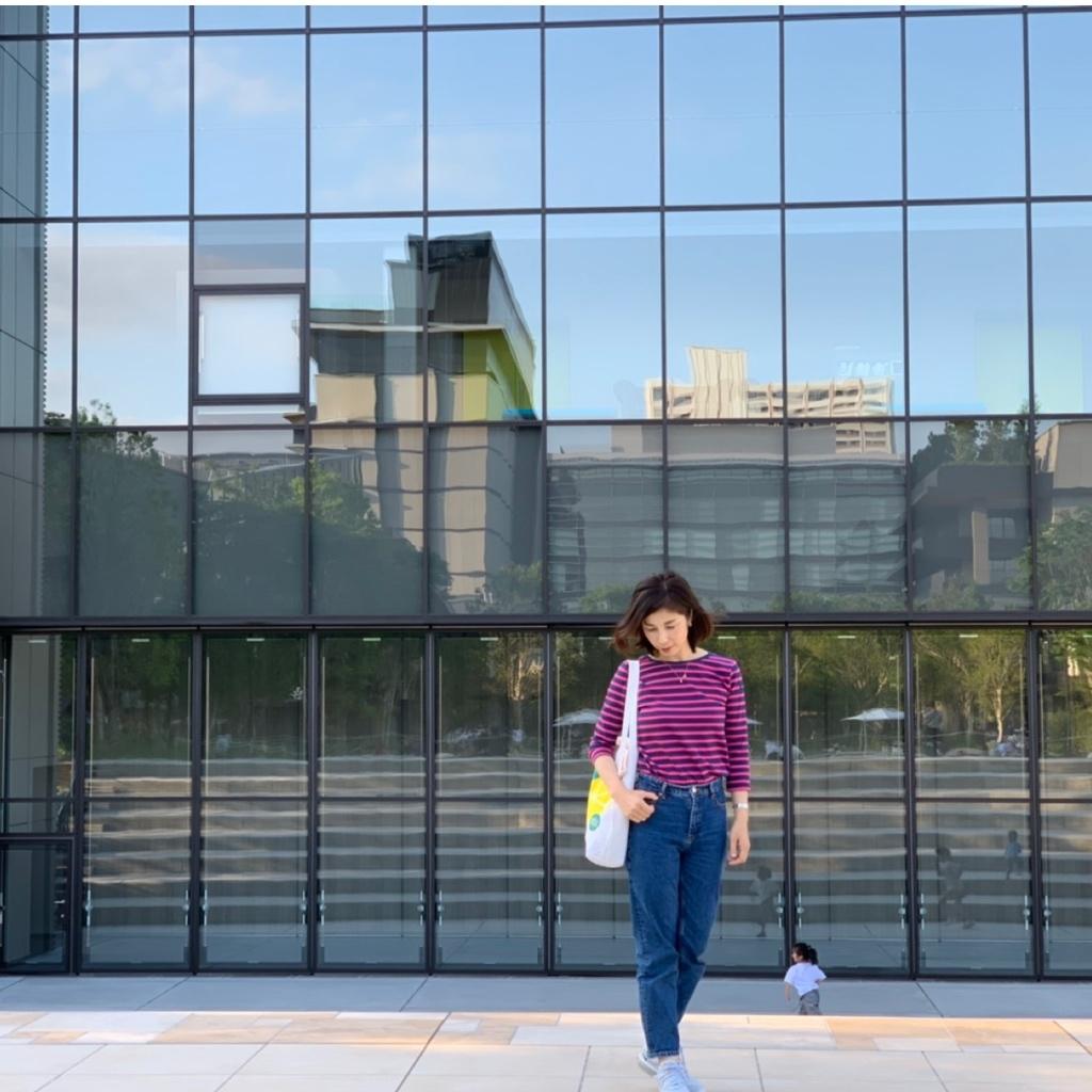 バックスタイルも可愛いルミノアのボーダーシャツ_1_2-1