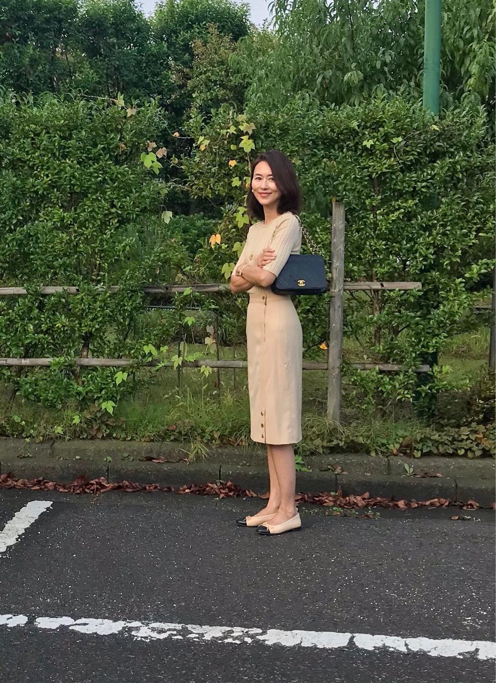 顔映りの良いベージュワントーンコーデ♡_1_4