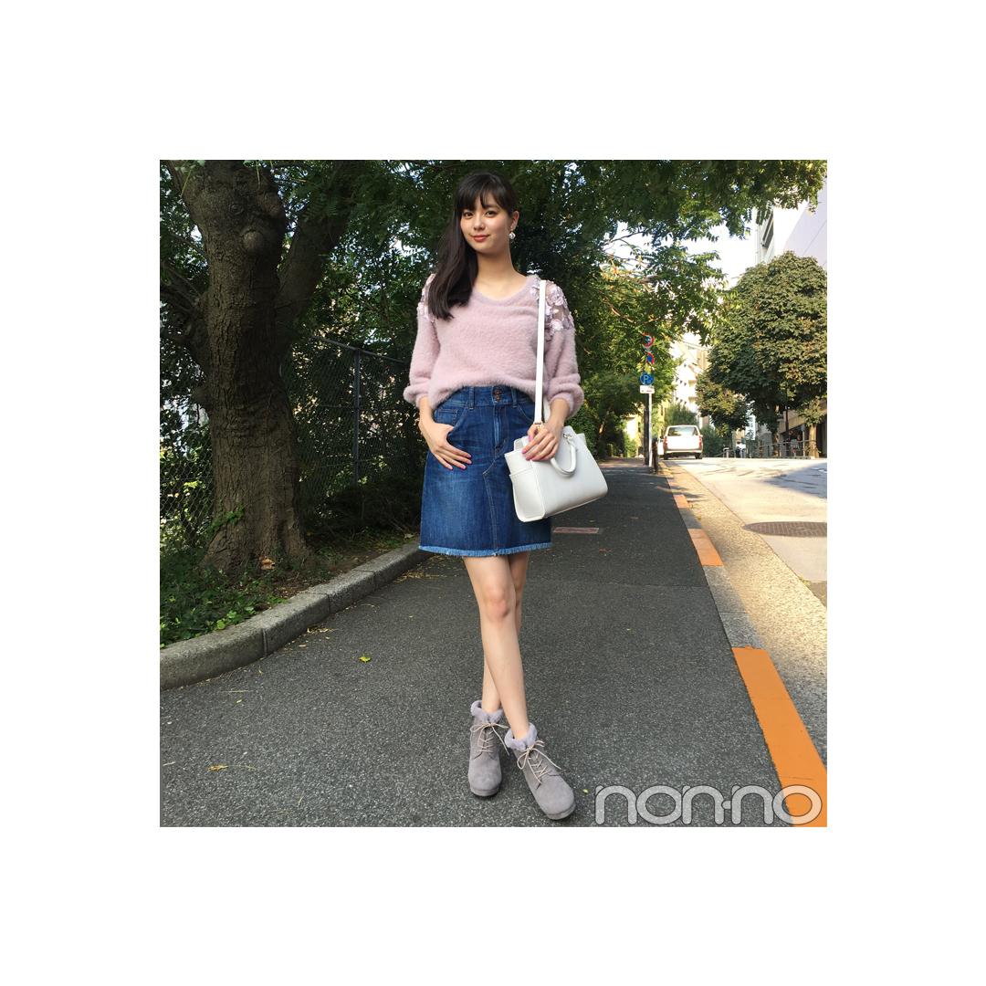 新川優愛のデートコーデはちょい甘ニット×デニムで決まり!【毎日コーデ】_1_1