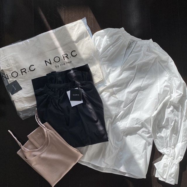 【N.O.R.C】ボリューム袖ブラウスでオールホワイトコーデ♪_1_3