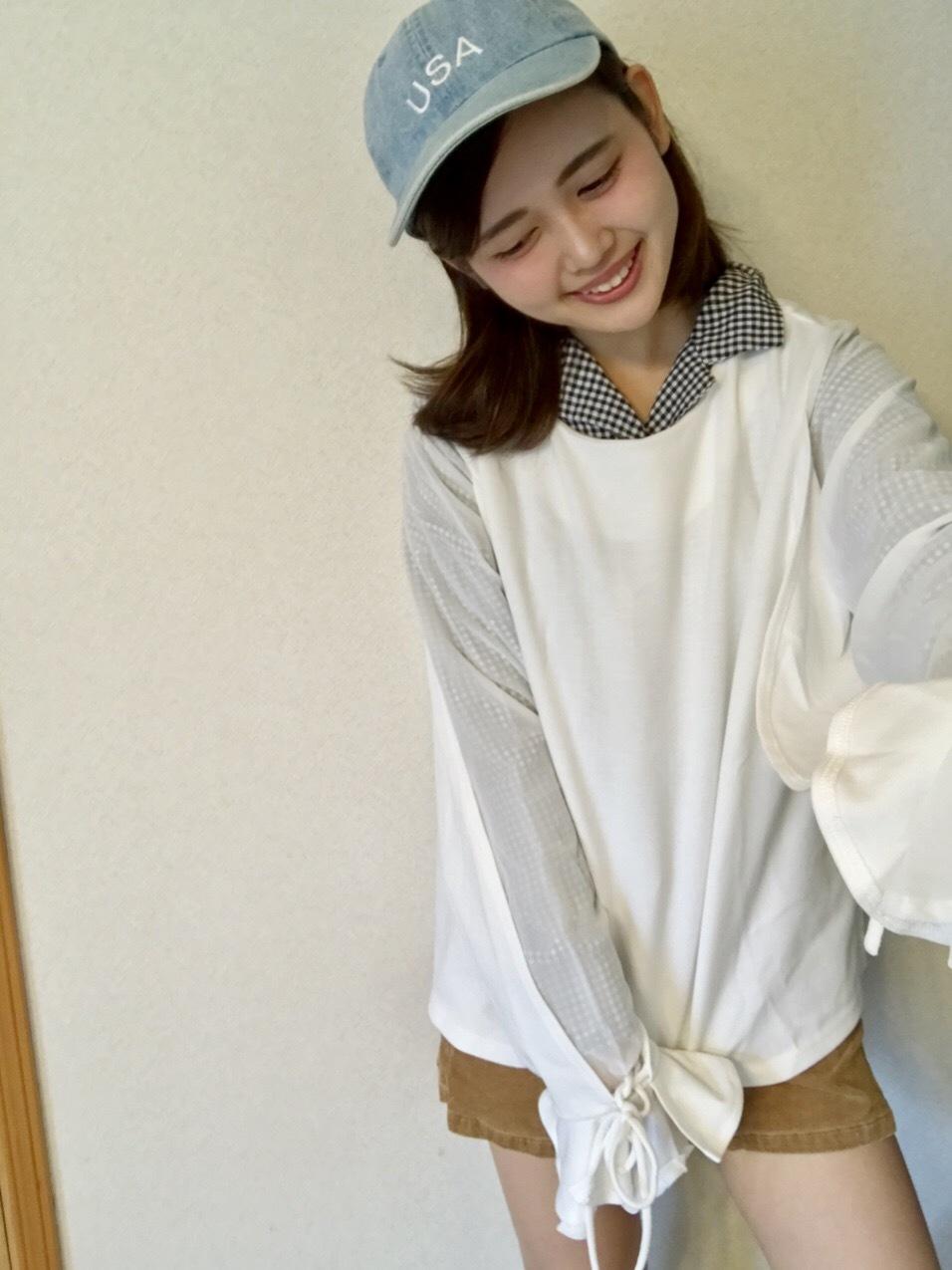 【この季節何着る?】ギンガムチェックの開襟シャツを着回し୧⃛(๑⃙⃘•ω•๑⃙⃘)୨⃛♪♪_1_4