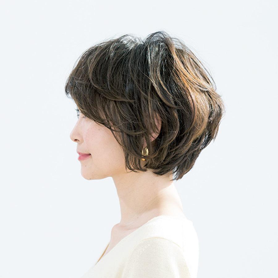 カール、フォルム……曲線だけで構成した女っぷりショート【40代のショートヘア】_1_1-2