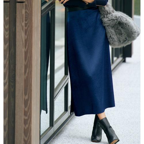 冬の心強いアイテム、マキシスカートで着こなしに華やぎを!_1_4