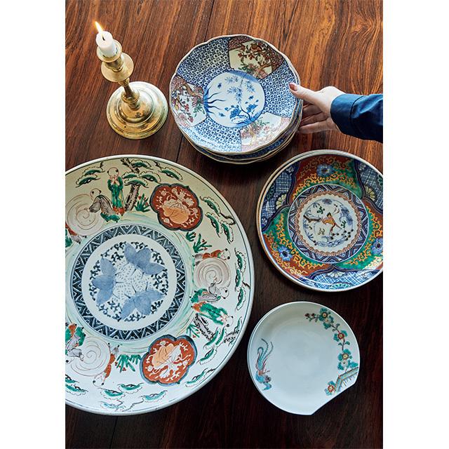 柿右衛門窯の器や古伊万里など、器はネットオークションなどで購入