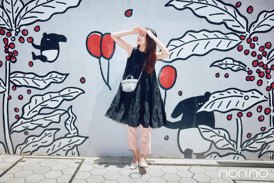 ジャージー素材のバッグでスポーティな雰囲気をプラス