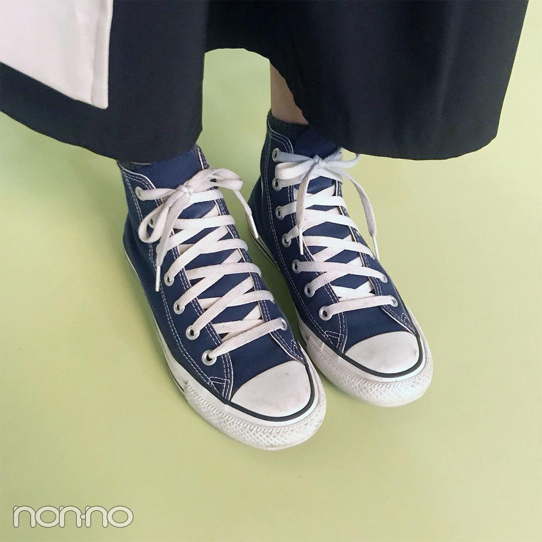 鈴木友菜はniko and...の無地Tに、KBFのスカート&コンバースで初夏コーデ!【モデルの私服スナップ】_1_2-2