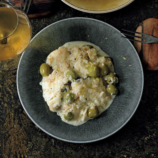 タラとオリーブの 塩麴クリーム煮