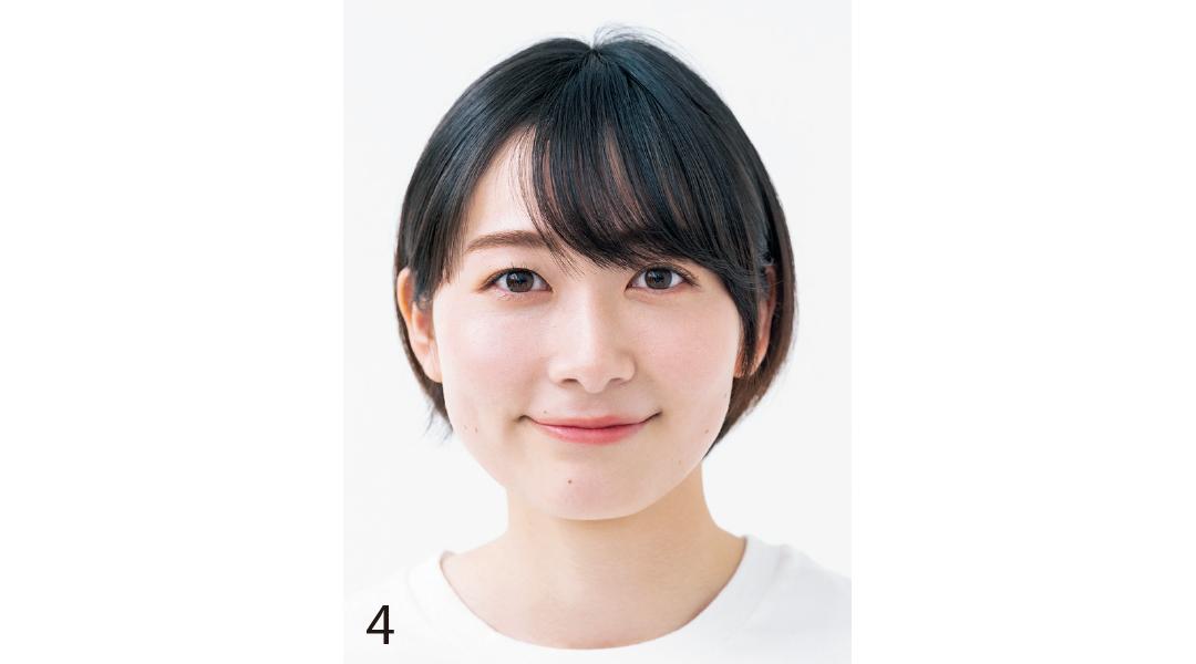 小顔を叶える基本の前髪セルフカット4