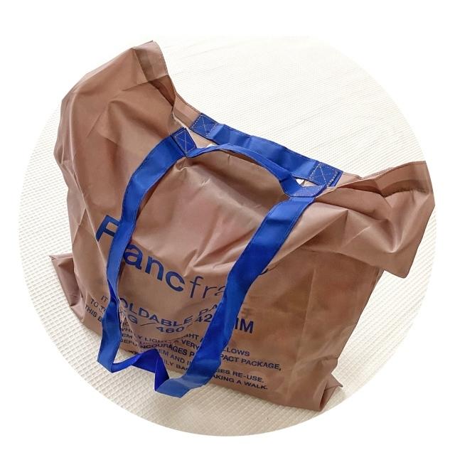 フランフラン Francfran ロゴ エコバッグ 折りたたみ ショッピング