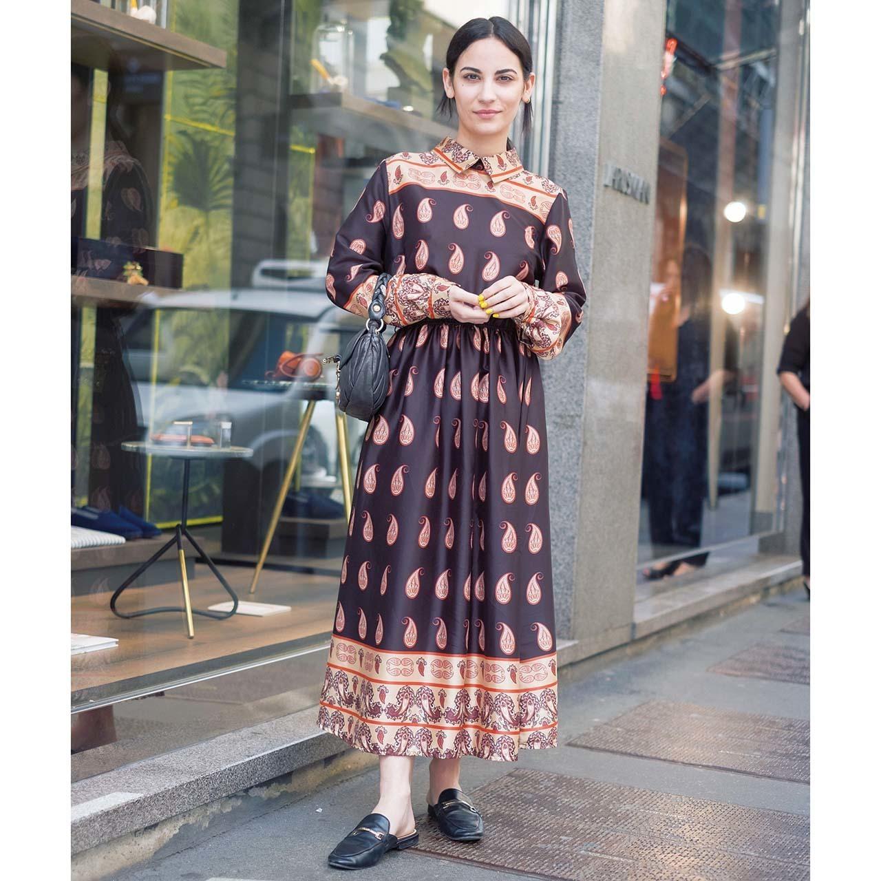 海外ファッションスナップ ワンピースコーデ2