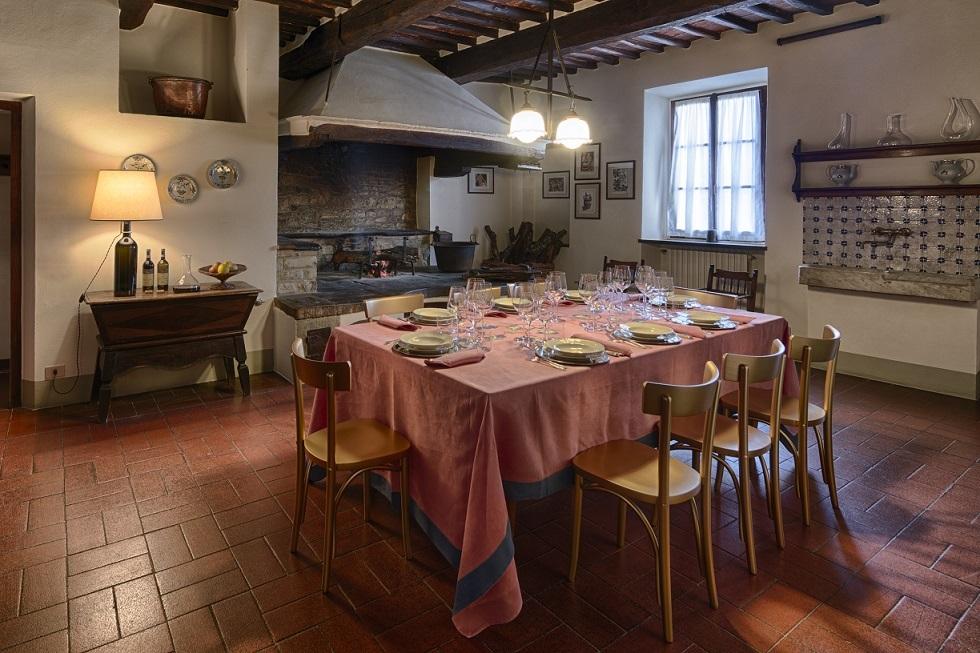カステッロ・ディ・アマのヴィラに併設されたレストラン
