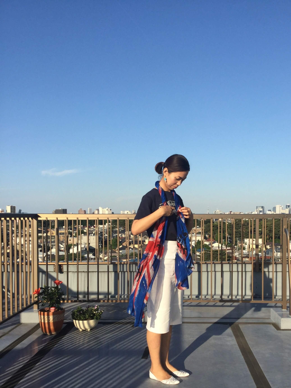 私の「春夏のストール」アレンジ ☆彡Part2 _1_1-1