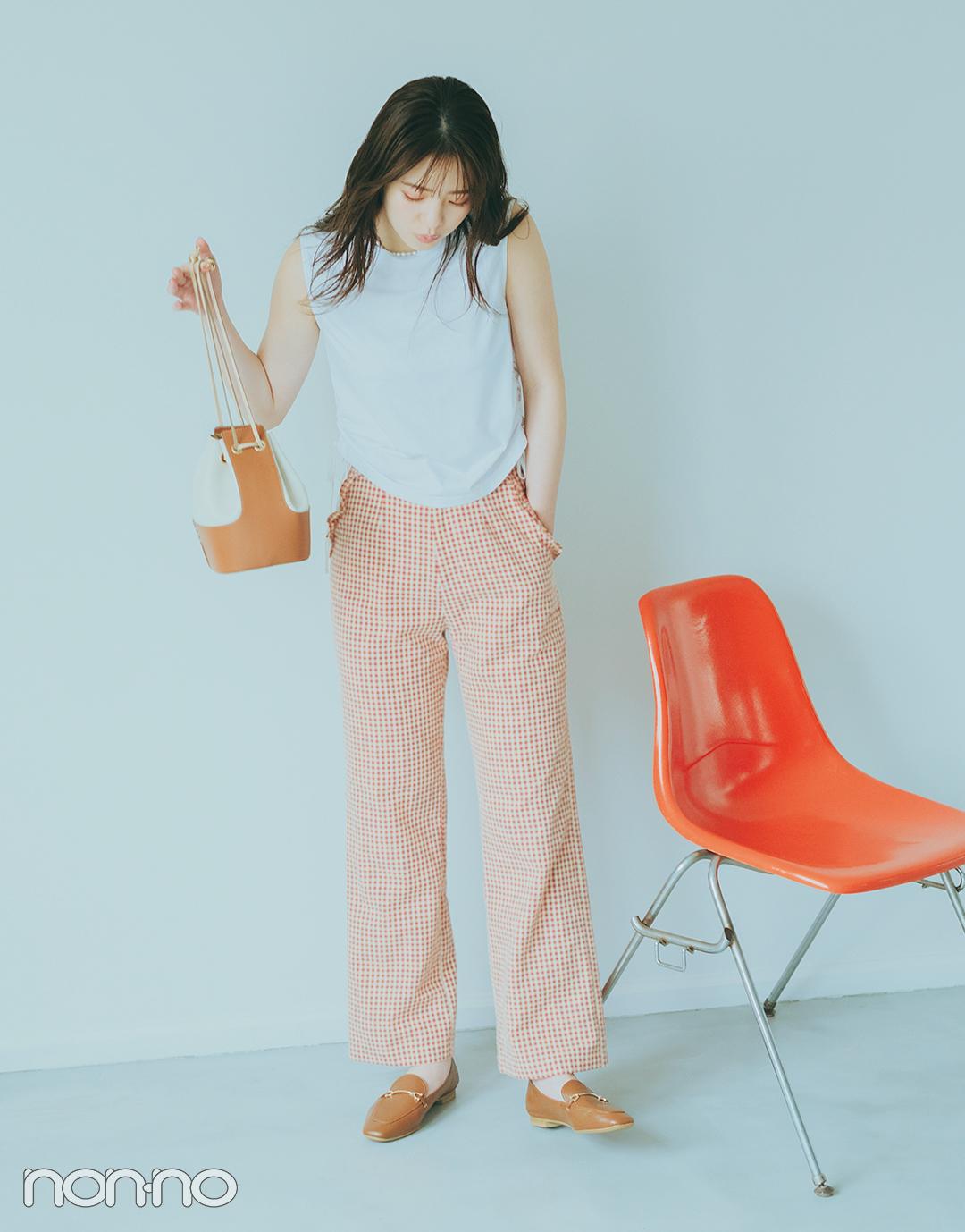 『横田真悠』の『ノースリTシャツ』モデルカット3−1