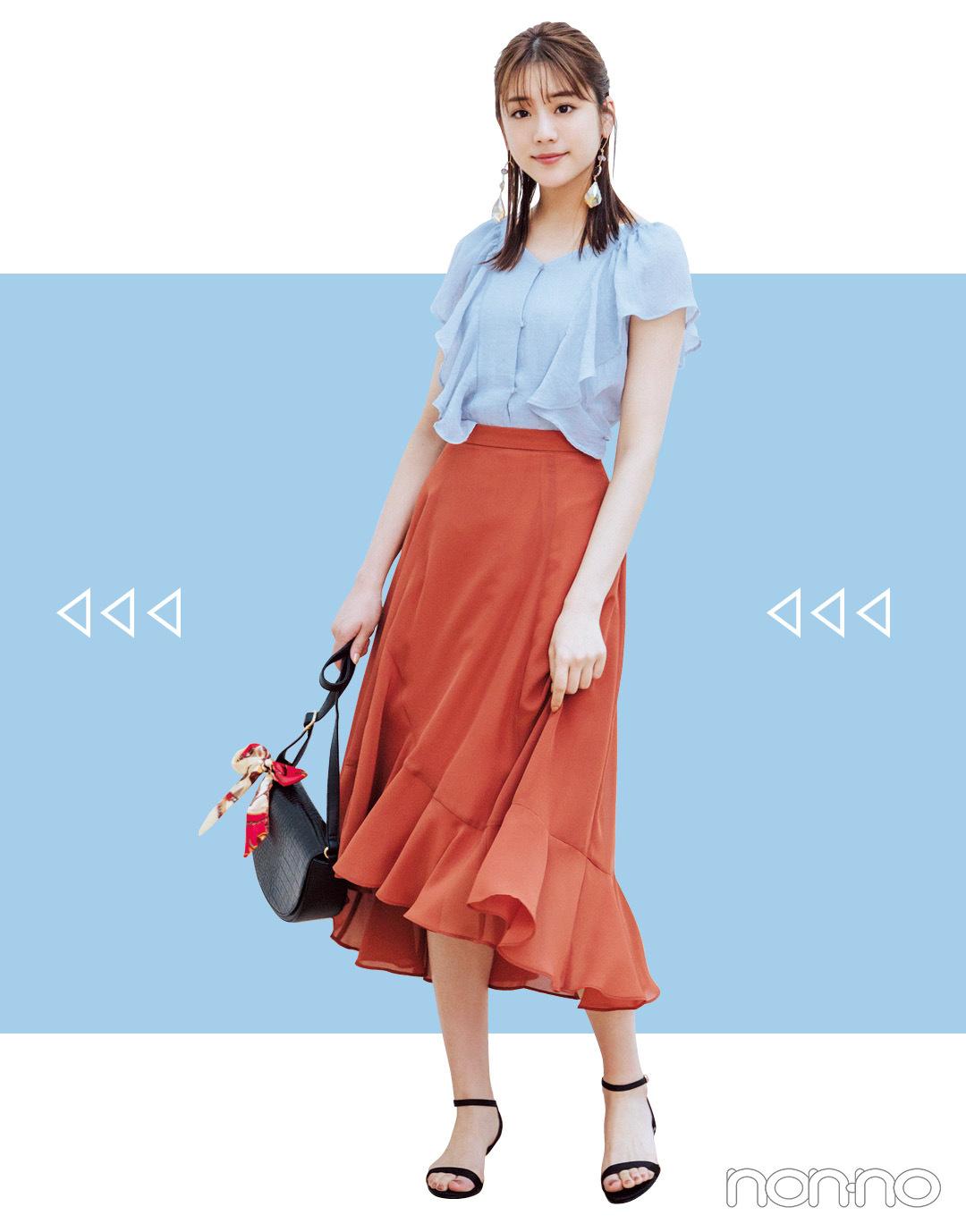 2019秋トレンド★ シフォン風スカートなら今から3か月、5通りに着回せる!_1_3-2
