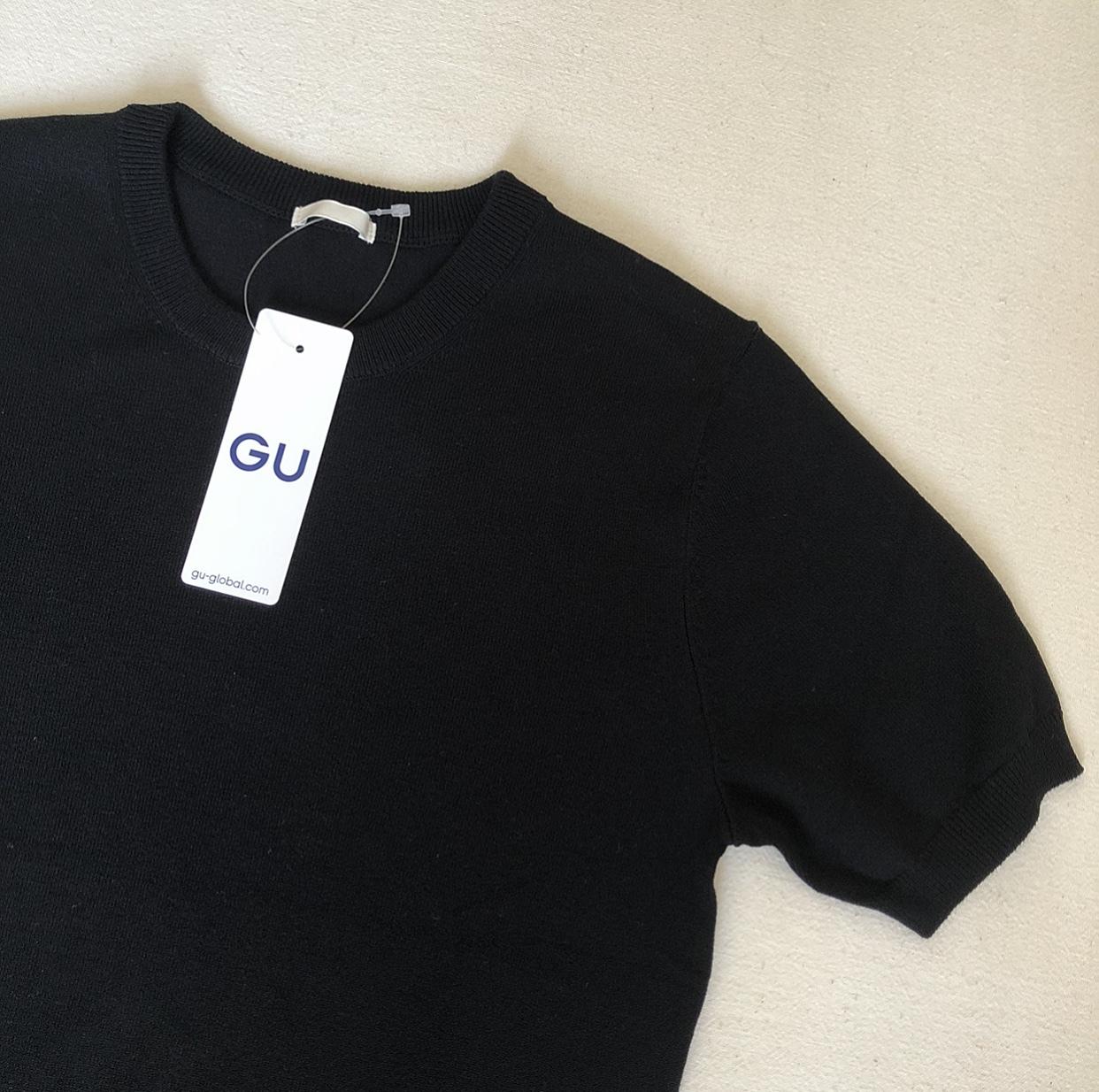 GU黒ニット&黒パールを効かせて❤︎_1_3