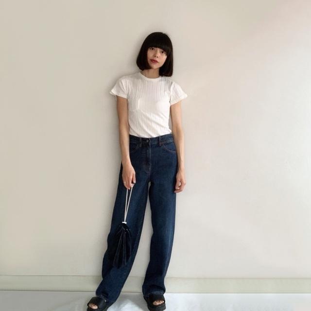 私の定番白Tシャツはこれ!YOUNG & OLSENの名品リブTシャツ_1_4