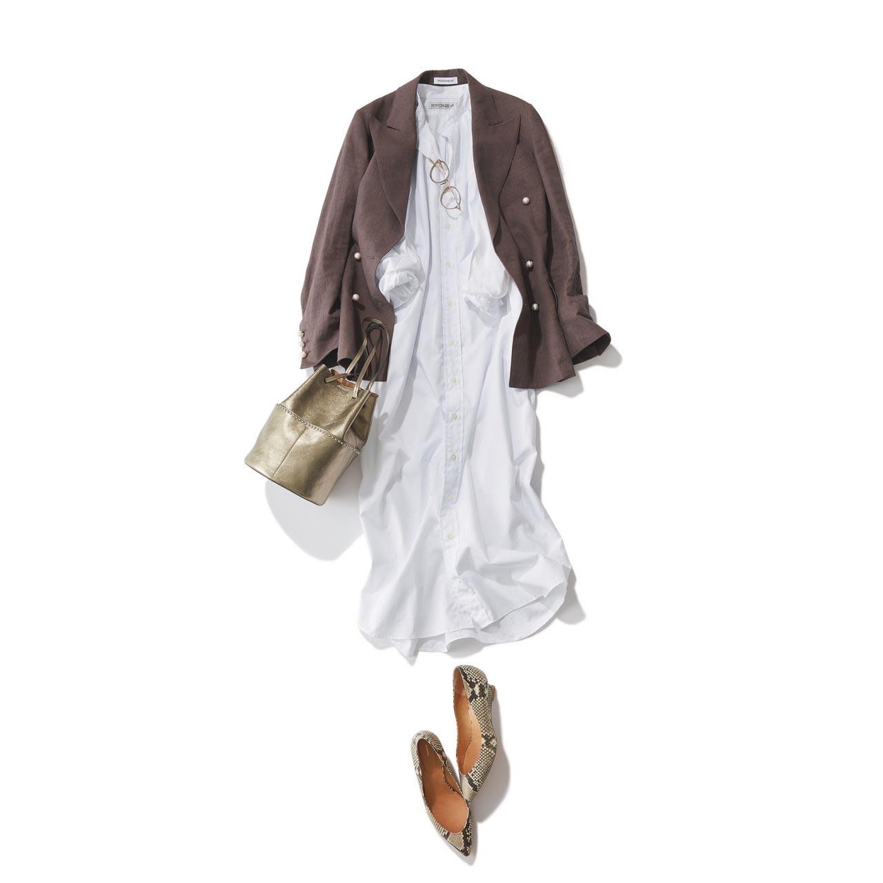 40代のためのシャツワンピース着こなし実例集|アラフォーファッション_1_11