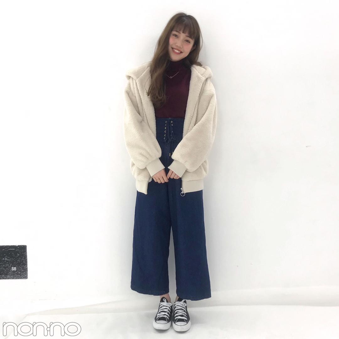 松川菜々花の冬コーデはtitty&Co.のニット&デニムでカジュアルに♡【モデルの私服スナップ】_1_1