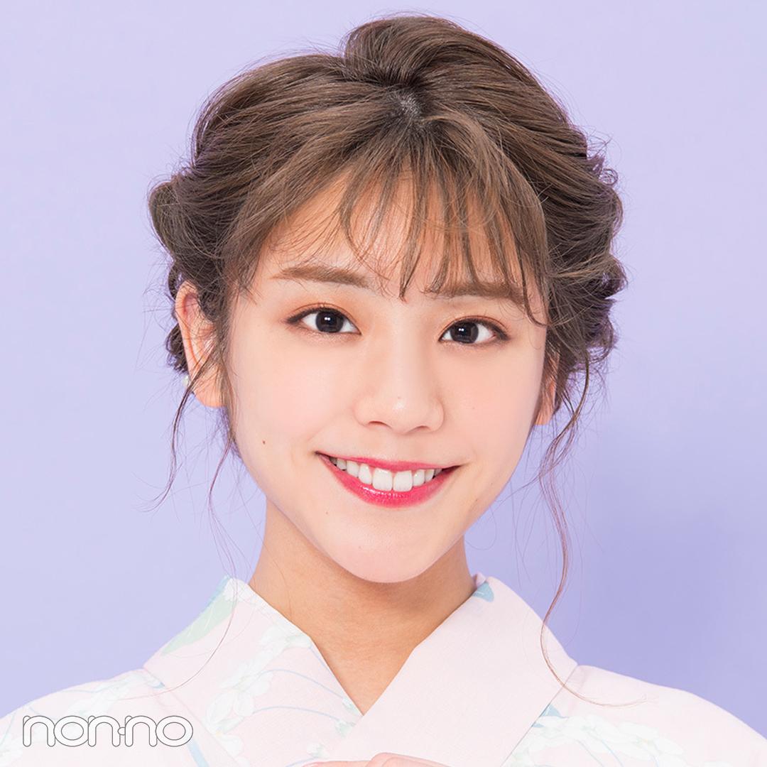 ゆかたのヘアアレンジ・ミディアム甘め編♡ 簡単なのに編み込み風!【2019年ゆかた特集】