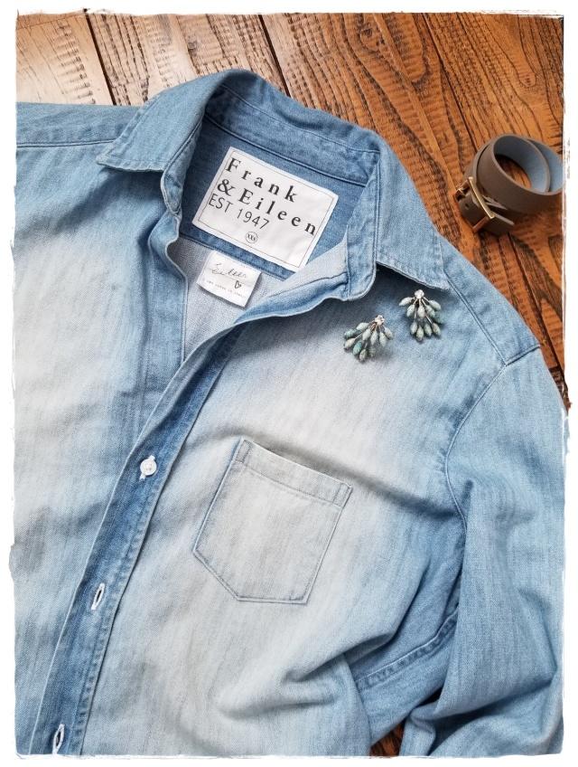 オールシーズン使えるブルーのデニムシャツは「フランク&アイリーン」を購入♪_1_1