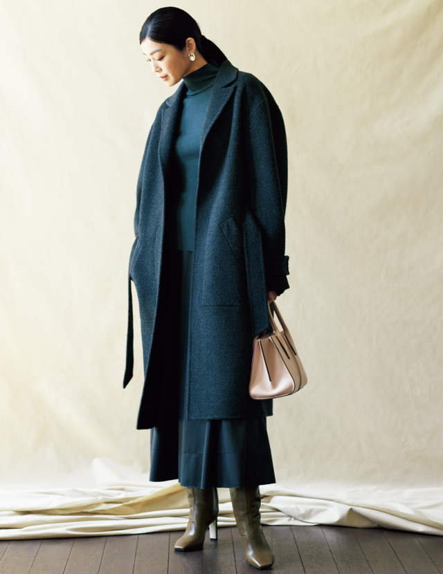 古典的なローデンコートを都会的にブラッシュアップ