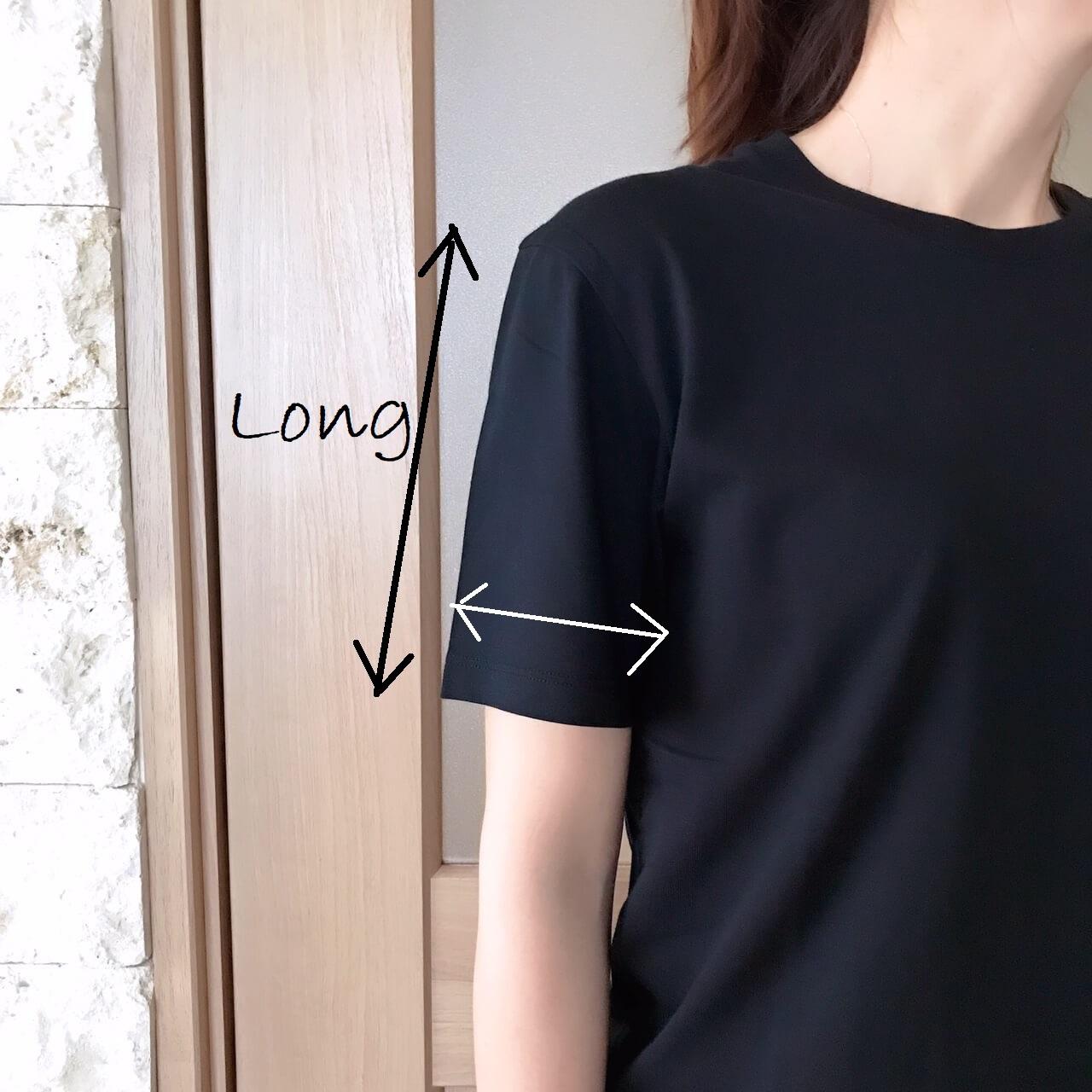 ユニクロメンズTシャツ着画