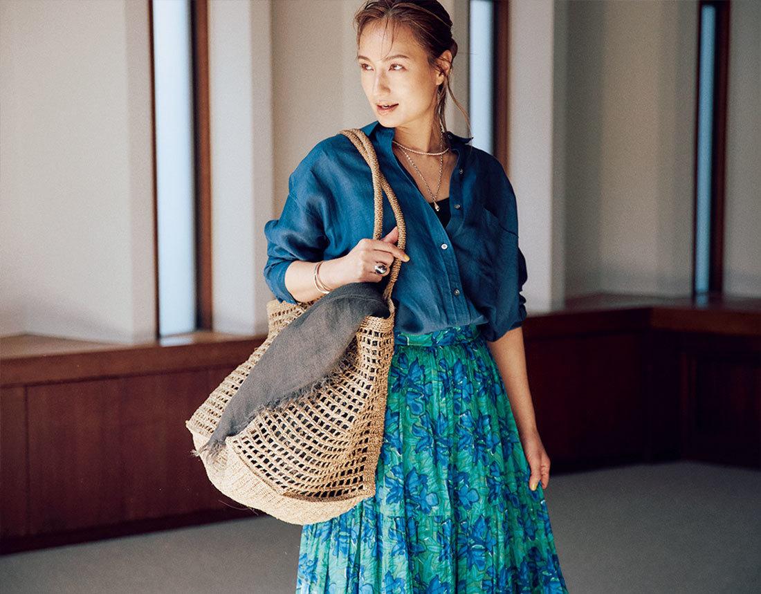 【40代におすすめの夏バッグ】コーデにメリハリを出す2021夏のトレンドバッグとは?|アラフォーファッション_1_12