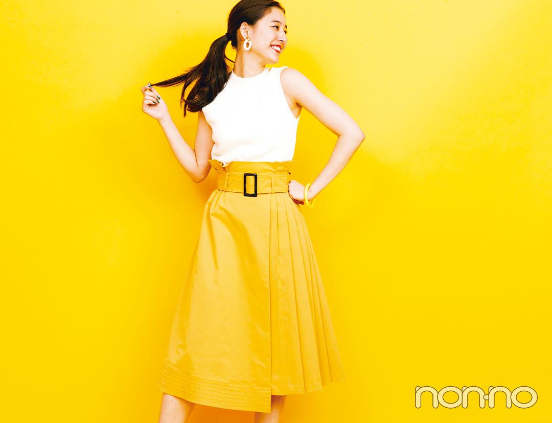 新木優子の夏色コーデ! 元気なひまわりイエローはこう着る♡ _1_4