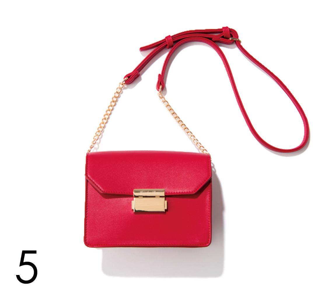 さりげないのに好印象♡ バッグで赤を取り入れる!_1_4-5