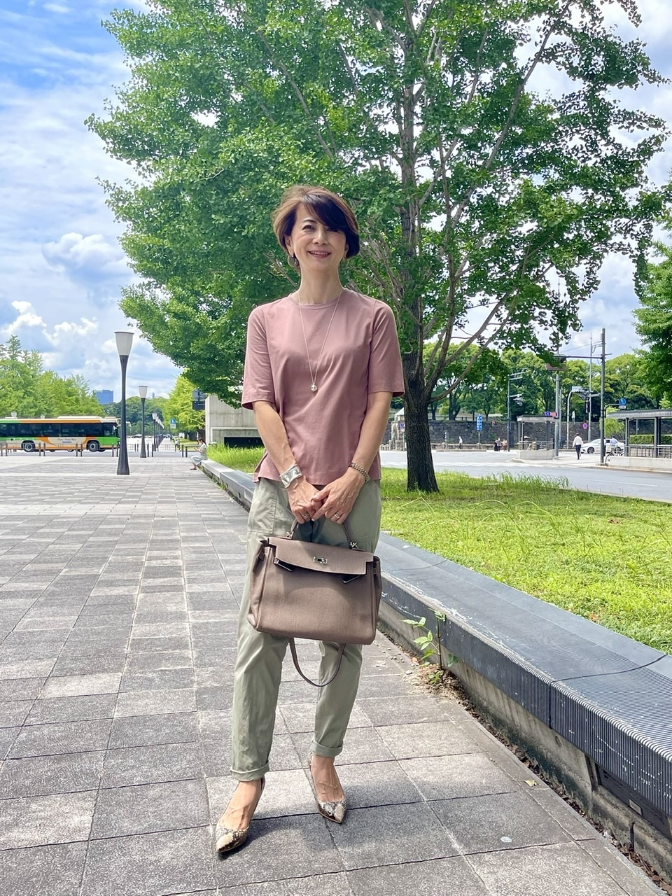 E by éclat の大人五分袖Tシャツをお試し_1_4