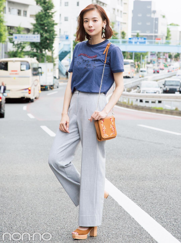 ユニクロだってこんなにおしゃれ☆ノンノモデルの私服Tシャツコーデ_1_1-2