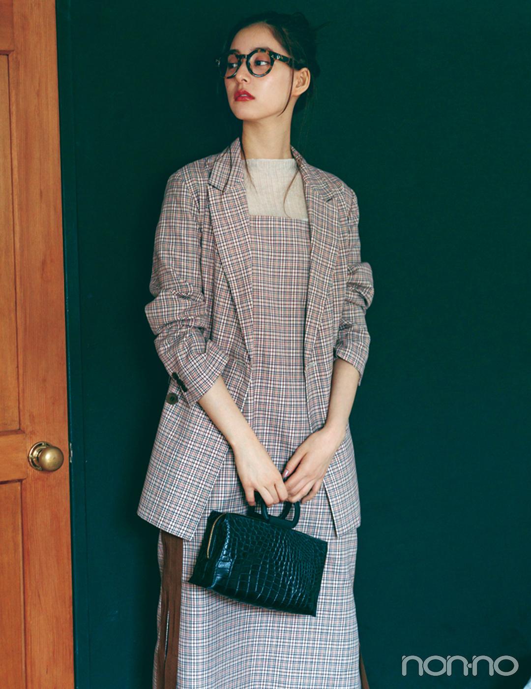 新木優子×新しいこと始まる秋服。「ジャケットのセットアップが着回せる」