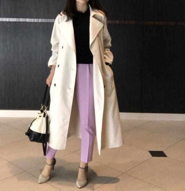スカートより女っぽい♡美女見えカラーパンツで旬コーデが完成_1_1