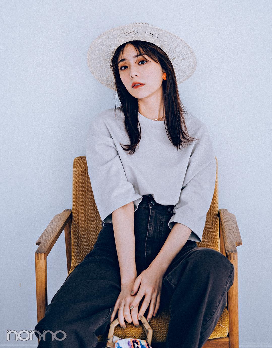貴島明日香のユニクロメンズトップスコーデ8